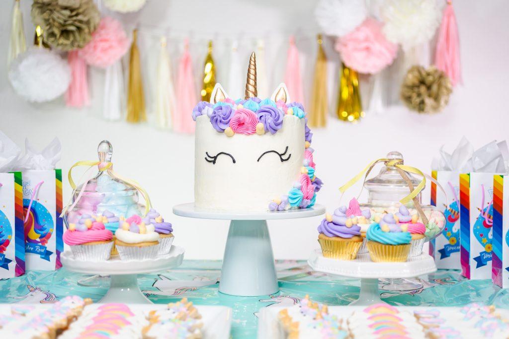 unicorn kinderfeestje taart