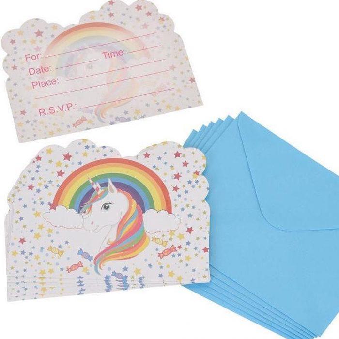 unicorn uitnodiging kinderfeestje