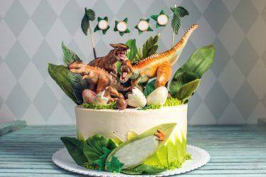 dinosaurus kinderfeestje taart