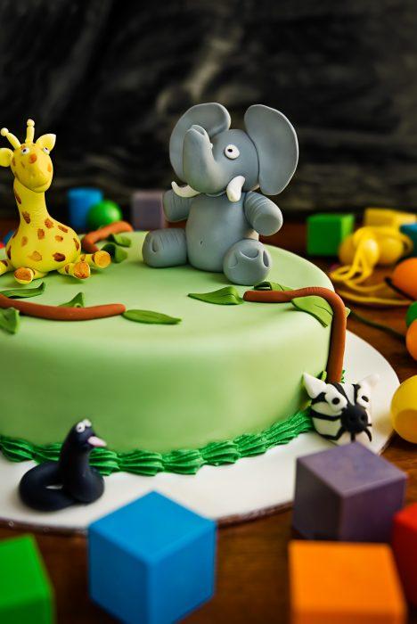 jungle taart kinderfeestje