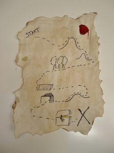 voorbeeld schatkaart piraten kinderfeestje