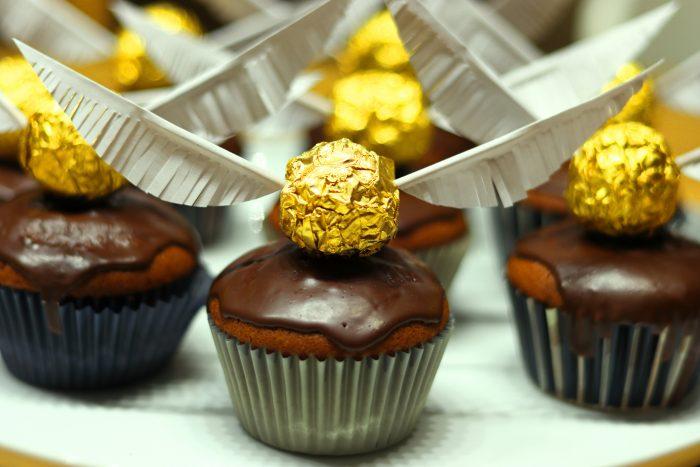 gouden snaai cupcakes