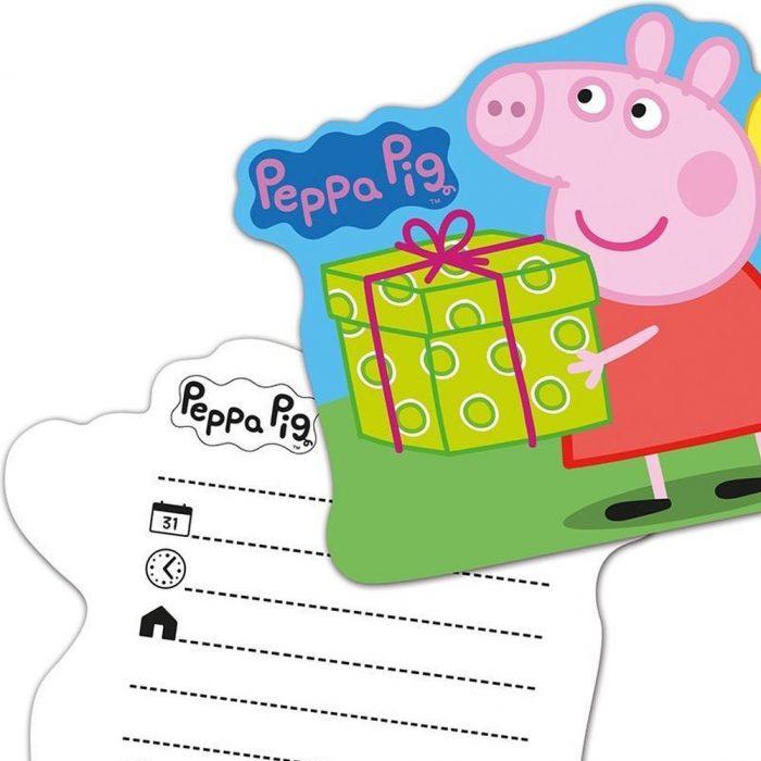 peppa pig uitnodiging verjaardagsfeest
